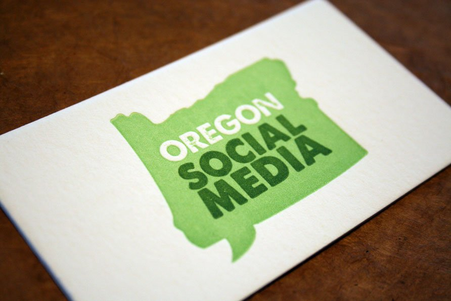 Custom Business Cards   Oregon Social Media - Twin Ravens Press