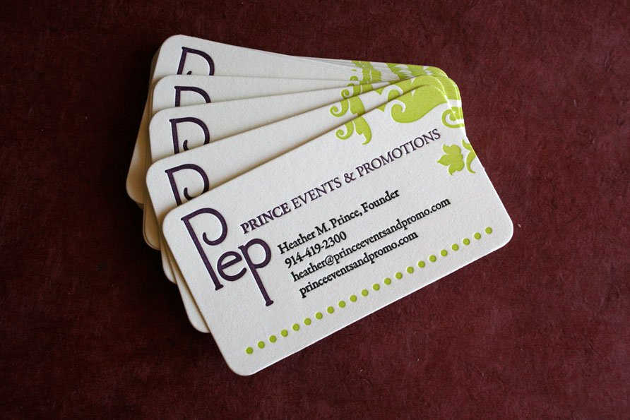 Custom Business Cards | Prince Events & Promotions - Twin Ravens Press