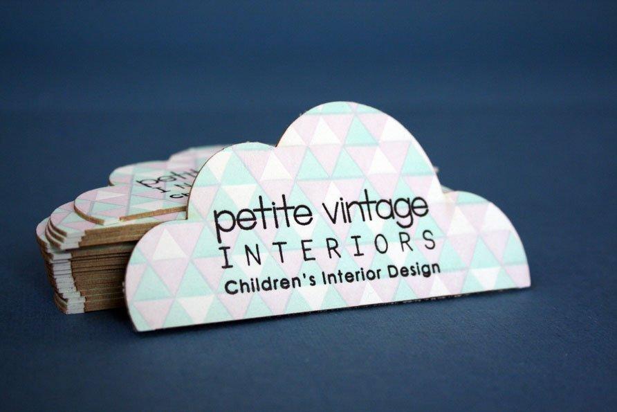 Custom Business Cards | Petite Vintage Interiors - Twin Ravens Press