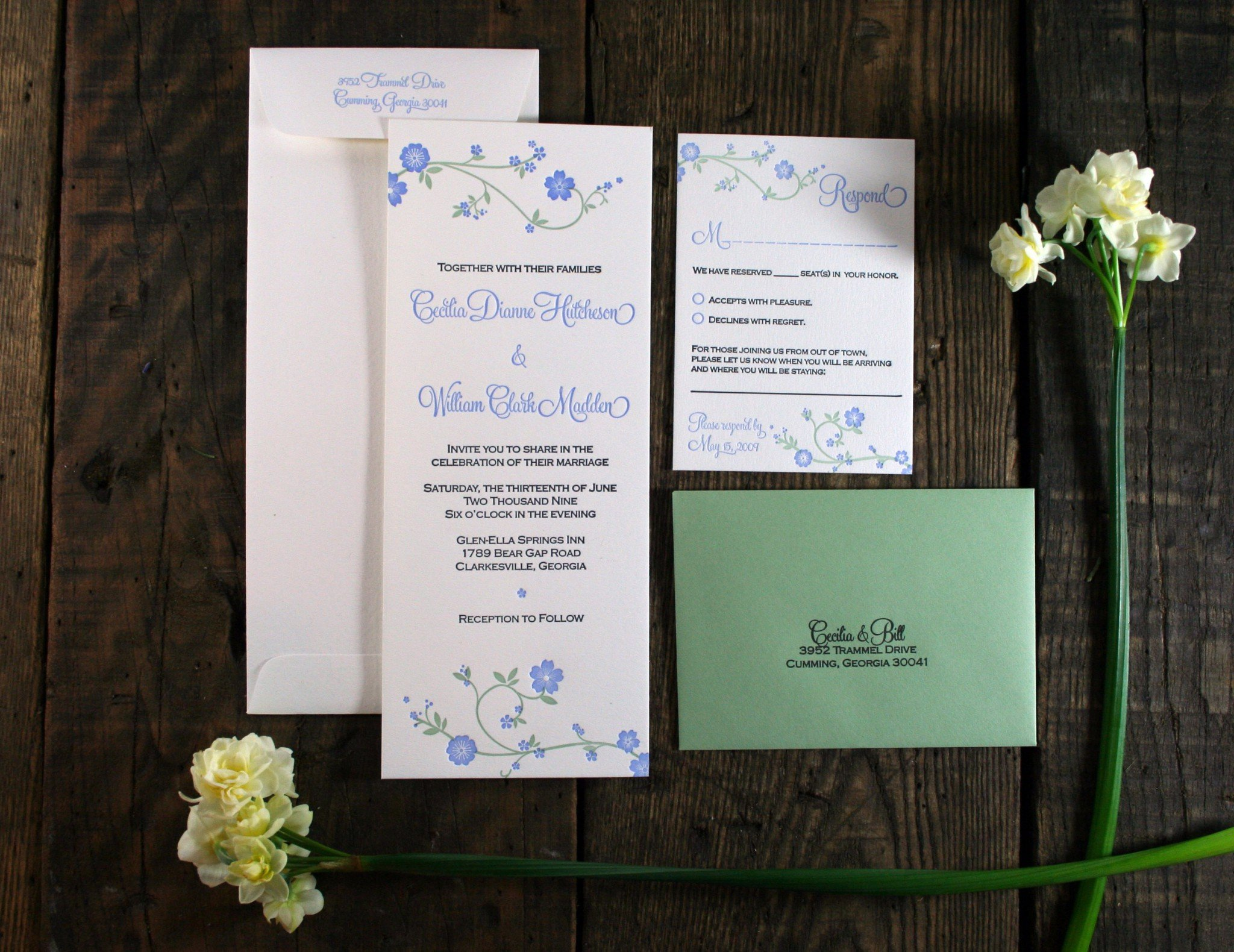 May custom printing special 20 off floral wedding collection customizations including papers envelope colors ink colors and wording are available for any of these designs to place your order and get 20 off stopboris Images