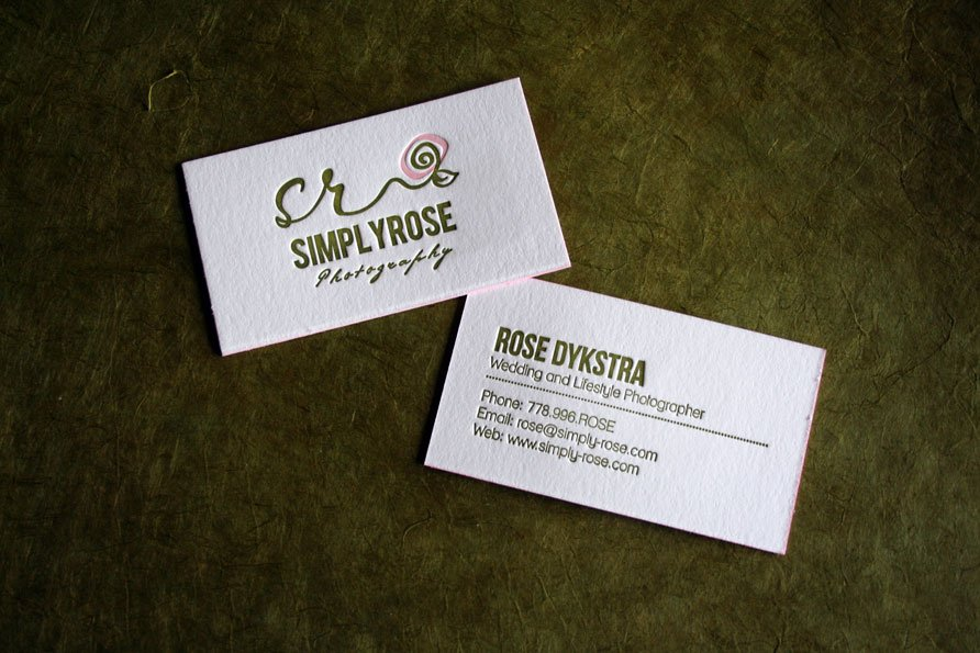 custom business cards simply rose photography twin ravens press