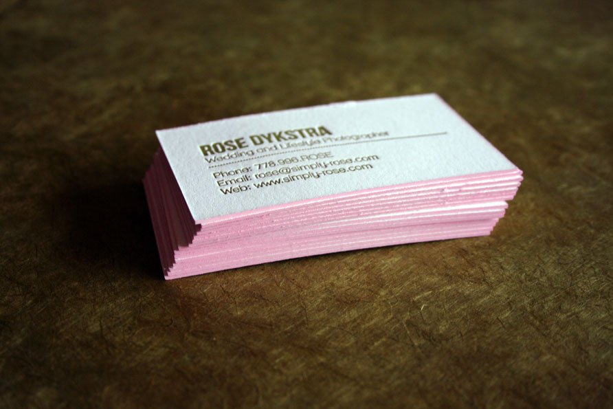 Custom Business Cards | Simply Rose Photography - Twin Ravens Press