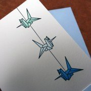 New Crane String Cards in Turquoise and Blues!