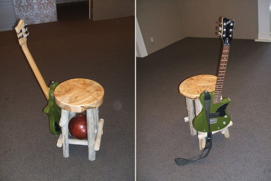 Custom Laser-Engraved Guitar Stool!