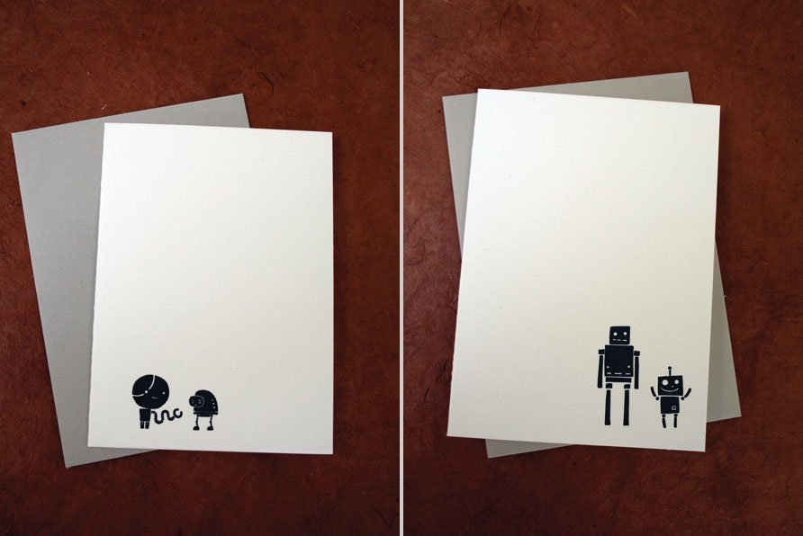 New Mixed Sets of Robot Cards from Josh Searl!