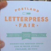 Join Us Tomorrow for the Letterpress Printer's Fair in Portland, OR!