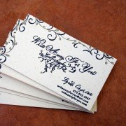 Custom Business Cards | Write Away For You Calligraphy