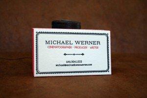 Custom Business Cards | Michael Werner