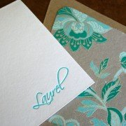 Pretty Personal Stationery for a Lady Named Laurel