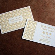 Custom Business Cards | Lauren Stewart Design + Events