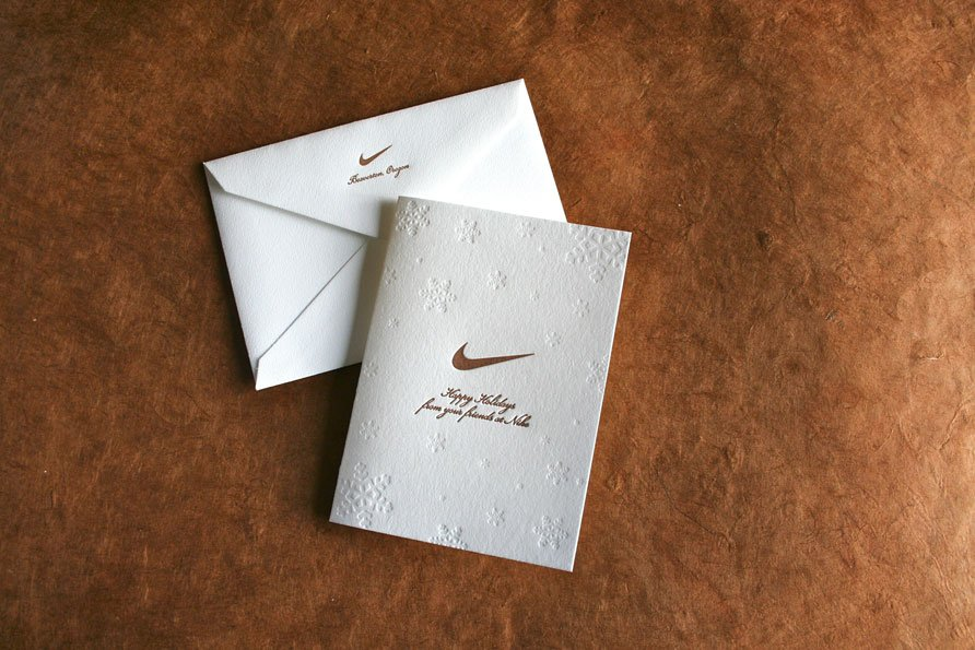 Holiday Cards for a Company Named for the Greek Goddess of Victory ...