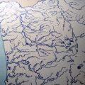 "Limited Edition Letterpress Art Print - ""Oregon Country Fair - 2013"" Map"