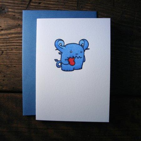 Little Blue Monster Valentine