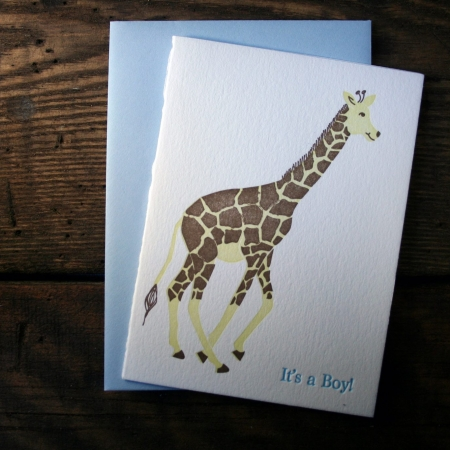 """It's a Boy!"" Giraffe"