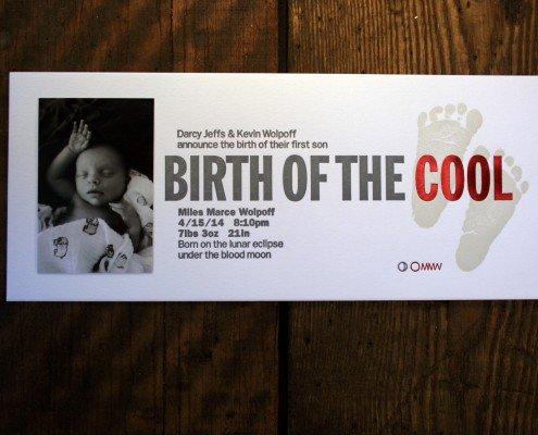 Birth Announcement for Miles Walpoff