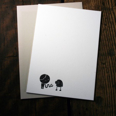 Black & White Robot Cards #1