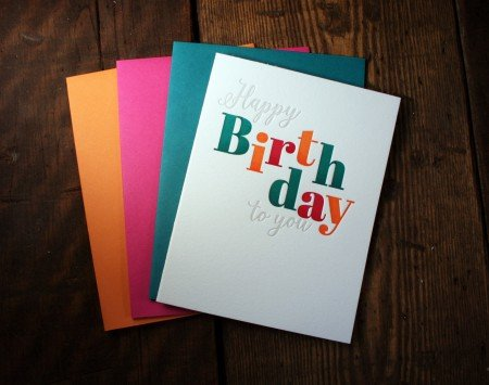 Dancing Letters - Happy Birthday To You