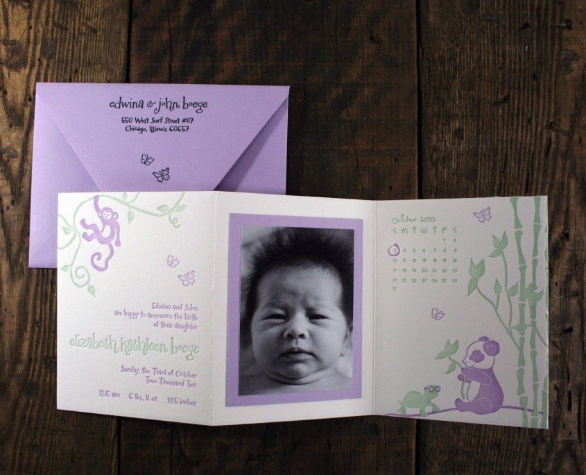 Birth Announcement for Elizabeth Boege