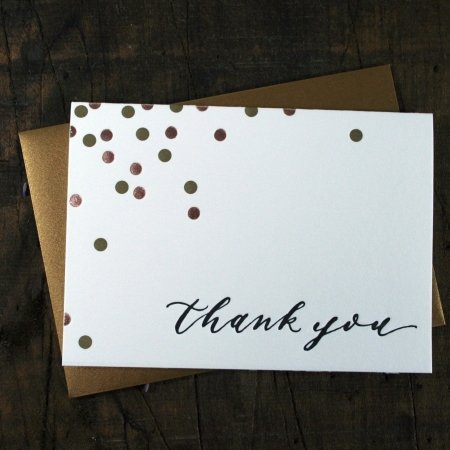Confetti Thank You Cards